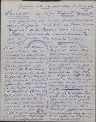 Pasodoble de una Infanta española : sinopsis / Guillermo Fernández-Shaw.