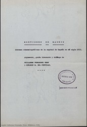 Mentidero de Madrid: escenas cinematográficas de la capital de España en el siglo XVII / argumento, guión literario y diálogo de Guillermo Fernández-Shaw y Eduardo M. del Portillo.