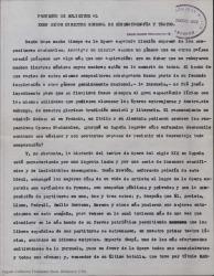 Proyecto de solicitud al Exmo. Director General de Cinematografía y Teatro / Guillermo Fernández-Shaw.