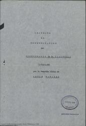 Proyecto de conmemoración del centenario de la zarzuela, 1850-1950 / Guillermo Fernández-Shaw.