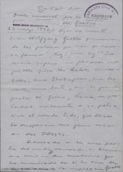 En tal día como hoy... Duelo universal por la muerte de Goethe / Guillermo Fernández-Shaw.