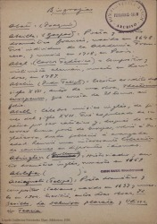Biografías de autores, cantantes, actores, compositores... tanto españoles como extranjeros
