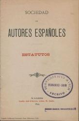 Sociedad de Autores Españoles : estatutos.