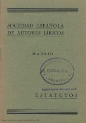 Sociedad Española de Autores Líricos : estatutos.