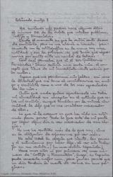 """Carta de José Luis Benlliure a Guillermo Fernández-Shaw, agradeciéndole el artículo publicado sobre él y su obra en """"Cortijos y Rascacielos"""", revista que admira."""