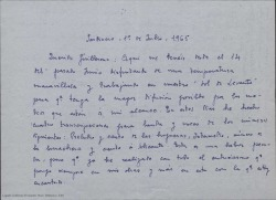 "Carta de Ernesto Rosillo a Guillermo Fernández-Shaw, hablando sobre ""Sol de Levante""."