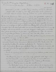 """Carta de Pierre de Vignier a Guillermo Fernández-Shaw, hablándole de """"Sexto Piso"""" y de """"Bolero"""" una nueva obra."""