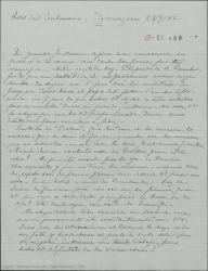 """Carta de Pierre de Vignier a Guillermo Fernández-Shaw, diciéndole que hay una compañía de zarzuelas reponiendo obras de él y esperando que esta vez se vea por fin representada """"Sexto piso""""."""