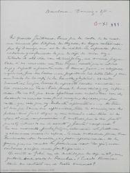 Carta de Pierre de Vignier a Guillermo Fernández-Shaw, tocando diversos temas teatrales relacionados con sus colaboraciones.