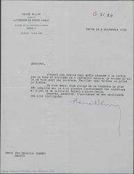 Carta de René Blum a Federico Romero, extrañándose de no haber recibido contestación a su carta y pidiendo le conteste lo antes posible para poder tomar decisiones sobre la próxima temporada teatral.