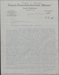 Carta de Luis Roldán a Guillermo Fernández-Shaw, pidiéndole se ponga en contacto con una casa distribuidora de películas españolas para llevarlas a Colombia.