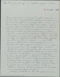 """Carta de Pierre de Vignier a Guillermo Fernández-Shaw, agradeciendo los recortes de prensa con buenas noticias sobre """"Sexto piso"""", que ya ha enviado a Alfred Gehri y hablando de otros asuntos teatrales."""