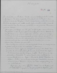 """Carta de Pierre de Vignier a Guillermo Fernández-Shaw, hablando de temas teatrales y preguntando si ya está terminada """"La lección de fray Juan de la Cruz"""" de Henri Chandebois."""