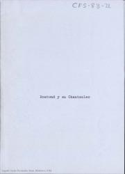 Rostand y su Chantecler / Carlos Fernández Shaw.