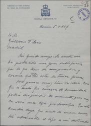 Carta de Valeriano León a Guillermo Fernández-Shaw, comentando una obra de éste y hablando del teatro cómico.