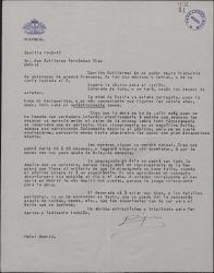 """Carta de Enrique Rambal a Guillermo Fernández-Shaw, comentando varios pormenores referentes a los ensayos de """"Sexto piso""""."""