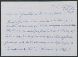 Carta de Julián Moret a Guillermo Fernández-Shaw, sobre un libro de Beruete y su venta.