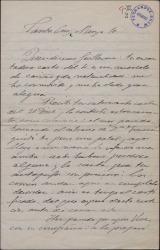 Carta de Gonzalo Segovia, Conde de Casa Segovia, a Guillermo Fernández-Shaw, expresándole su cariño y comentando diversos temas teatrales.