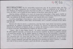 Recordatorio de las exposiciones de las estatuas reales restauradas por Federico Marés.