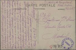 Tarjeta postal de Manuel Castro Gil a Guillermo Fernández-Shaw, pidiéndole cartas de presentación para sus amigos de Londres.