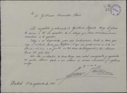 Carta de Luis Ibáñez a Guillermo Fernández-Shaw, enviándole una muestra de los dibujos que desea.