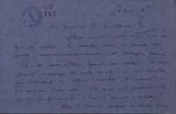 Carta de Javier Regás a Guillermo Fernández-Shaw, con diversos comentarios y noticias sobre las obras de ambos.