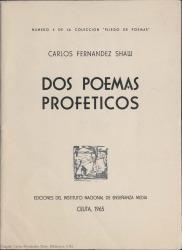 Dos poemas proféticos. (Instituto nacional de Enseñanza Media, Ceuta)