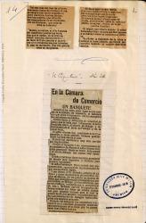"""Cuaderno 9 (1908). Crónicas y artículos sobre los """"Juegos florales"""" en Málaga."""