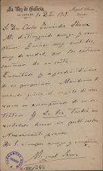Cartas de Miguel Sawa a Carlos Fernández Shaw.