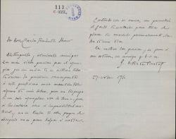 Cartas de José Ortiz de Pinedo a Carlos Fernández Shaw.