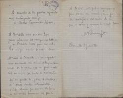 Cartas de M. Román Serra a Carlos Fernández Shaw.