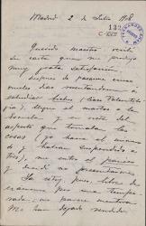 Cartas de Pablo Cavestany a Carlos Fernández Shaw.