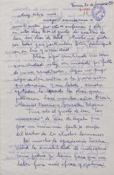 Carta de Bruna Gandolfo a Guillermo Fernández-Shaw, diciendo que ha leído sus obras.