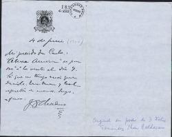 Cartas de José Santos Chocano a Carlos Fernández Shaw.
