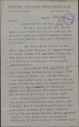 Carta de Lorenzo Ruggi felicitando por el éxito y tratando otros temas.
