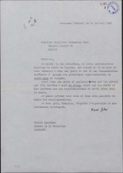 """Carta de Alfred Gehri Guillermo Fernández-Shaw, enviándole documentación sobre la obra de aquél """"VI étage""""."""