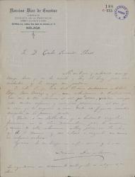 Cartas de Narciso Díaz de Escovar a Carlos Fernández Shaw.