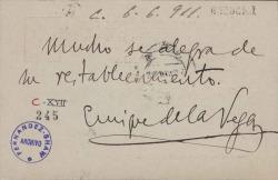 Cartas de Enrique de la Vega a Carlos Fernández Shaw.