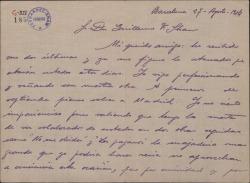 Carta de Pablo Sorozábal a Guillermo Fernández-Shaw, pidiéndole detalles de la obra en que está trabajando y dándole informes de otra obra extranjera.