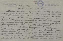 Carta de Pablo Sorozábal a Guillermo Fernández-Shaw, dándole algunas ideas para el arreglo de una obra.
