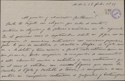 Carta de Jesús Romo a Guillermo Fernández-Shaw, dando noticias teatrales.