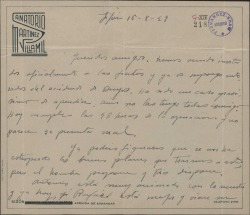 Carta de Jesús Romo a Guillermo Fernández-Shaw, con varias noticias.
