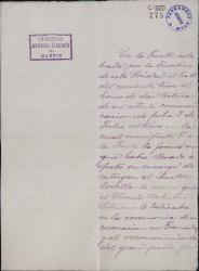 Cartas de M. García Muñoz a Carlos Fernández Shaw.