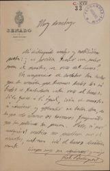 Cartas de Víctor Balaguer a Carlos Fernández Shaw.