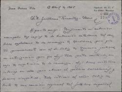 """Carta de Juan Dotras Vila a Guillermo Fernández-Shaw, sobre los ensayos y decorados de la obra """"Montbruc se va a la guerra""""."""