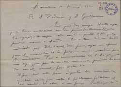 Carta de Miguel Vila Piqué a Guillermo Fernández Shaw y Federico Romero, fijando fecha para la audición de una obra.