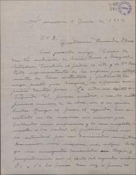 """Carta de Miguel Vila Piqué a Guillermo Fernández Shaw, transmitiéndole las opiniones del cantante Ricardo Mayral ante una audición de """"Mimi Pinsón""""."""