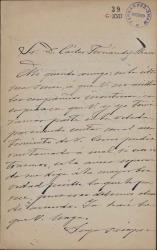 Cartas de Emilio Ferrari a Carlos Fernández Shaw.