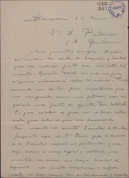 """Carta de Miguel Vila Piqué a Guillermo Fernández Shaw y Federico Romero, comentando una carta de los señores Castell y Mayral [que se adjunta] y otros asuntos sobre """"Mimi Pinsón""""."""