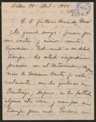 """Carta de Jesús Guridi a Guillermo Fernández-Shaw, sobre varias representaciones de """"El caserío"""" y otros asuntos teatrales."""